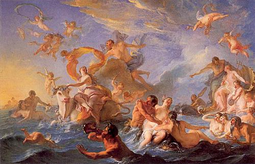 ノエル=ニコラ・コワペルの『エウロペの略奪』の画像