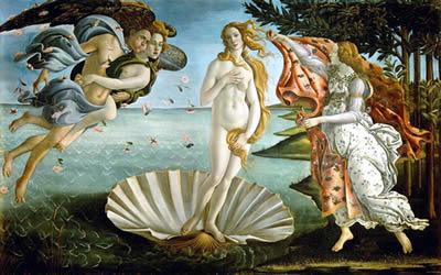 ボッティチェッリ『ウェヌスの誕生』の画像